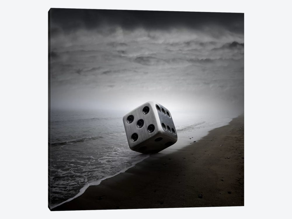 Dice by Zoltan Toth 1-piece Canvas Art