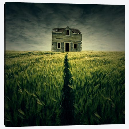 Haunted House Canvas Print #ZOL24} by Zoltan Toth Canvas Print
