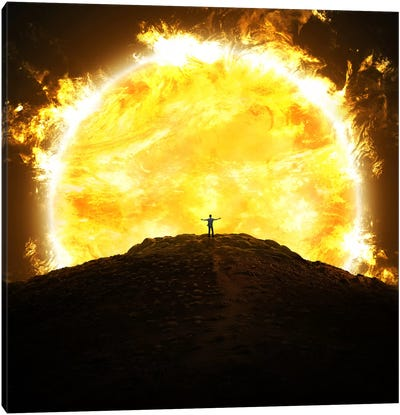 Against The Sun Canvas Art Print
