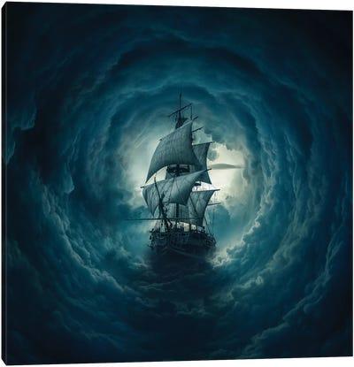 Cloud Ship Canvas Art Print