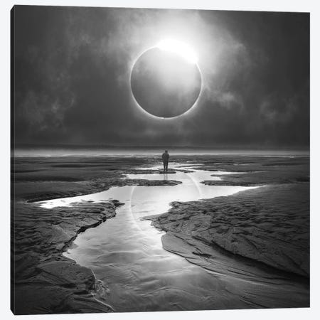 Eclipse 3-Piece Canvas #ZOL81} by Zoltan Toth Canvas Wall Art