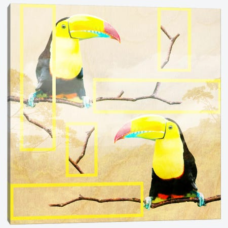 Tropical Vibes Canvas Print #ZOO9} by 5by5collective Canvas Wall Art