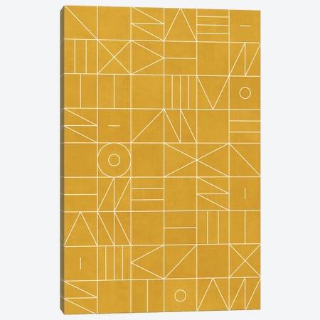 My Favorite Geometric Patterns No.4 - Mustard Yellow Canvas Print #ZRA100} by Zoltan Ratko Canvas Artwork