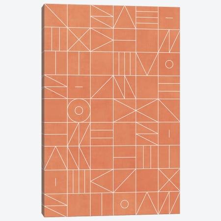 My Favorite Geometric Patterns No.5 - Coral Canvas Print #ZRA101} by Zoltan Ratko Canvas Wall Art