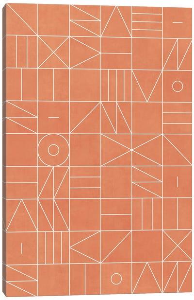 My Favorite Geometric Patterns No.5 - Coral Canvas Art Print