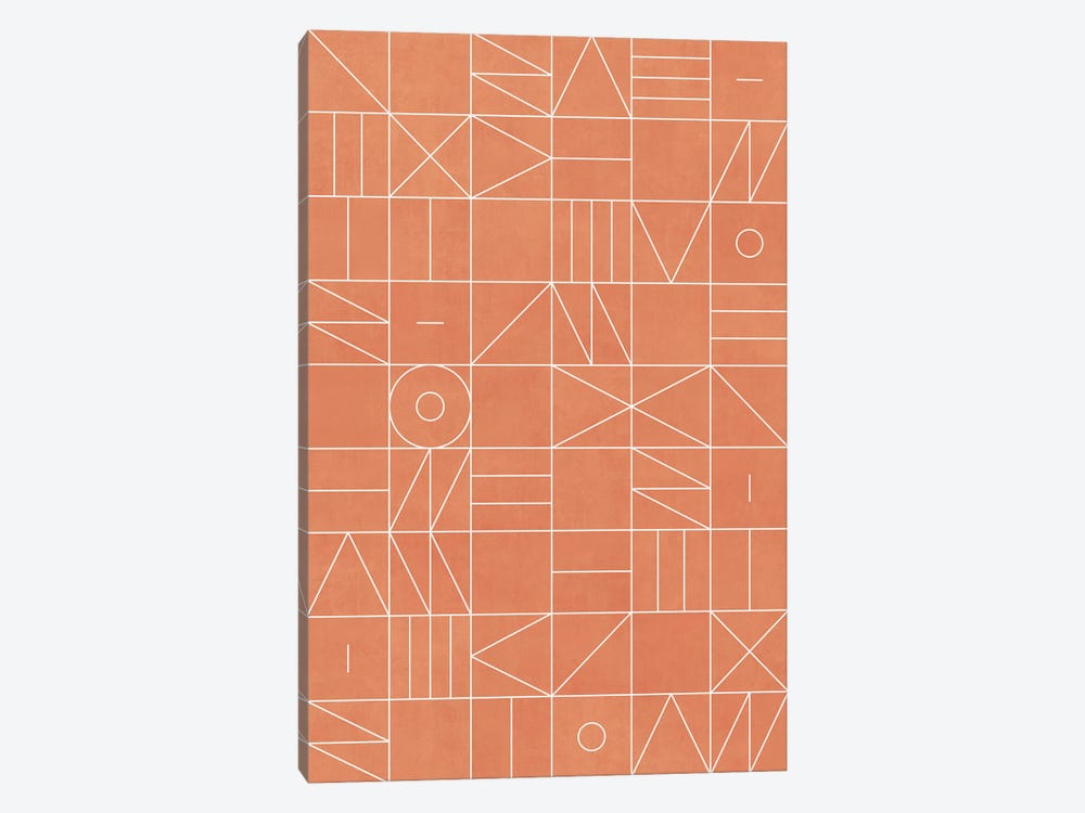 My Favorite Geometric Patterns No.5 - Coral by Zoltan Ratko 1-piece Canvas Print
