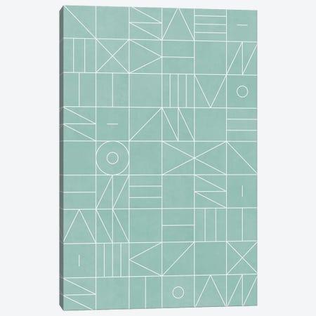 My Favorite Geometric Patterns No.7 - Light Blue Canvas Print #ZRA103} by Zoltan Ratko Canvas Art