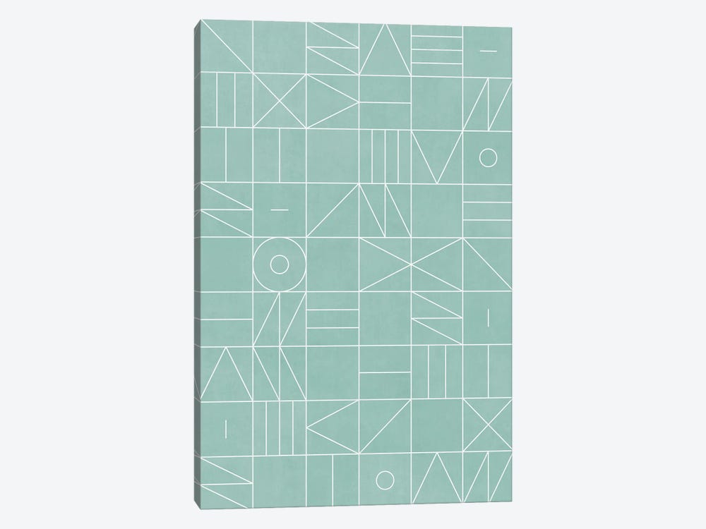 My Favorite Geometric Patterns No.7 - Light Blue by Zoltan Ratko 1-piece Canvas Print