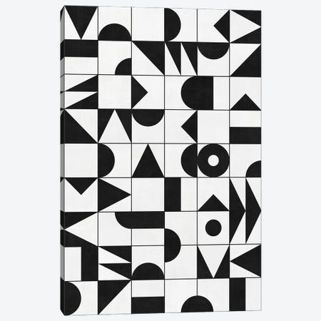 My Favorite Geometric Patterns No.10 - White Canvas Print #ZRA106} by Zoltan Ratko Canvas Art Print