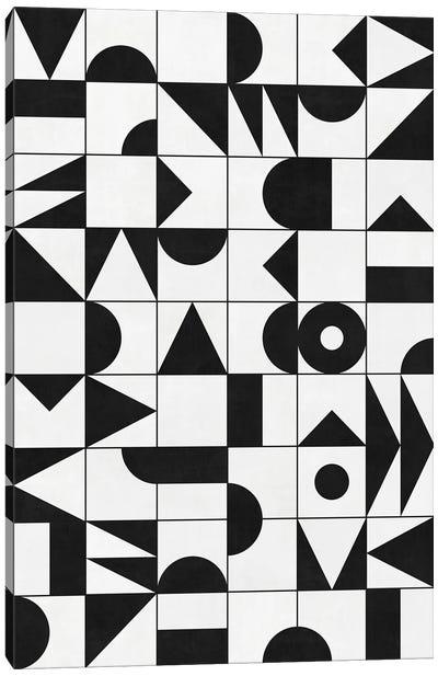 My Favorite Geometric Patterns No.10 - White Canvas Art Print