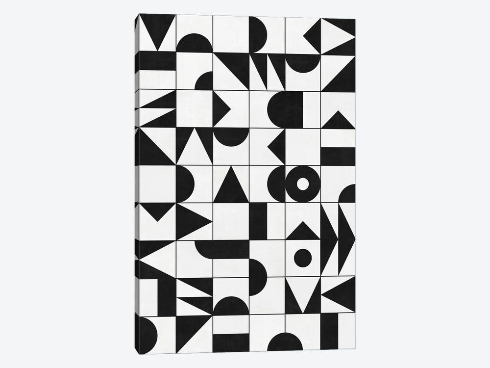 My Favorite Geometric Patterns No.10 - White by Zoltan Ratko 1-piece Canvas Artwork