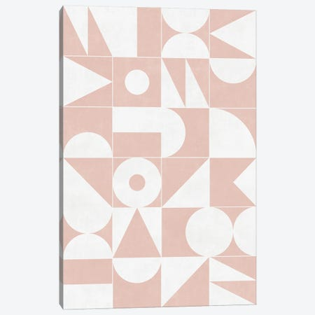 My Favorite Geometric Patterns No.11 - Pale Pink Canvas Print #ZRA107} by Zoltan Ratko Canvas Art Print
