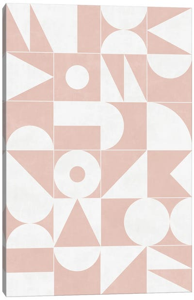 My Favorite Geometric Patterns No.11 - Pale Pink Canvas Art Print
