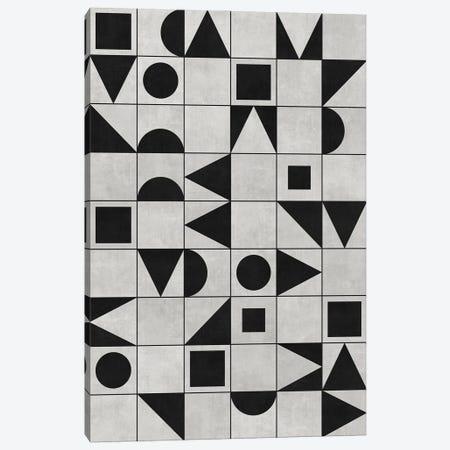 My Favorite Geometric Patterns No.12 - Grey Canvas Print #ZRA108} by Zoltan Ratko Canvas Wall Art