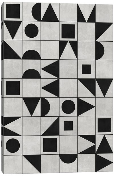 My Favorite Geometric Patterns No.12 - Grey Canvas Art Print