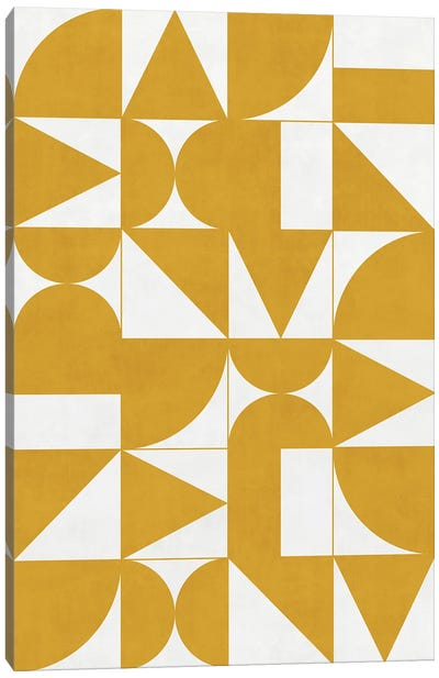 My Favorite Geometric Patterns No.13 - Mustard Yellow Canvas Art Print