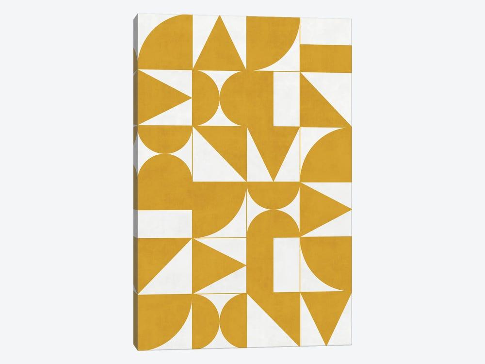 My Favorite Geometric Patterns No.13 - Mustard Yellow by Zoltan Ratko 1-piece Art Print