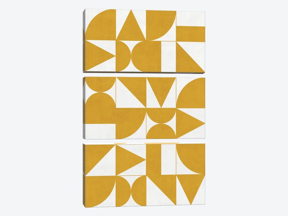 My Favorite Geometric Patterns No.13 - Mustard Yellow by Zoltan Ratko 3-piece Art Print