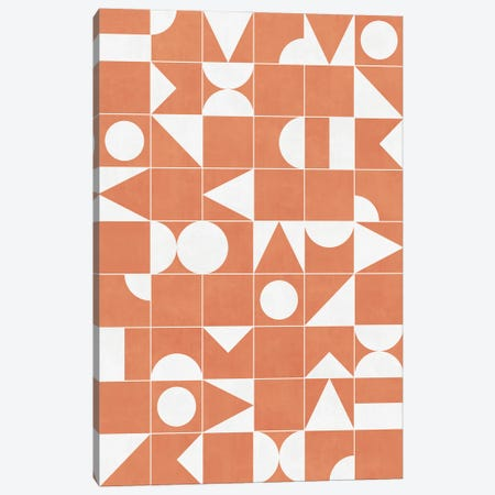 My Favorite Geometric Patterns No.14 - Coral Canvas Print #ZRA110} by Zoltan Ratko Canvas Art Print