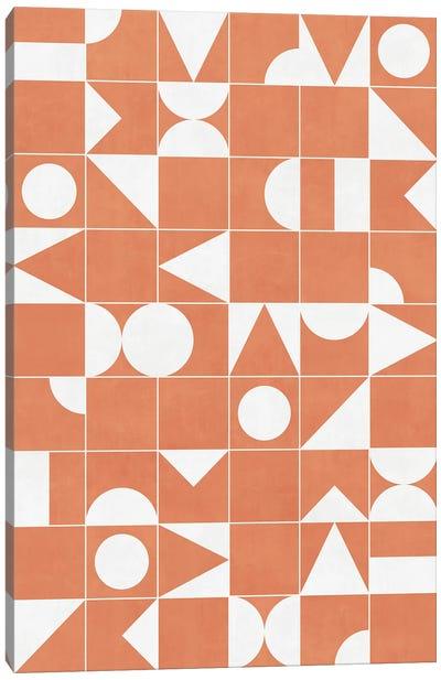 My Favorite Geometric Patterns No.14 - Coral Canvas Art Print