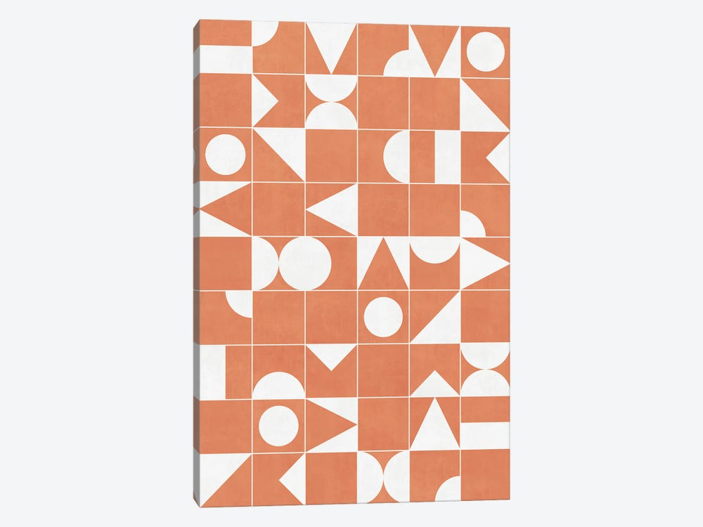 My Favorite Geometric Patterns No.14 - Coral by Zoltan Ratko 1-piece Art Print