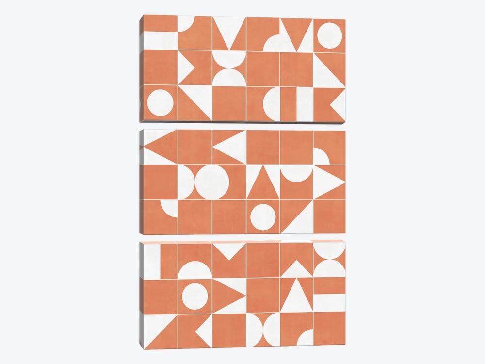 My Favorite Geometric Patterns No.14 - Coral by Zoltan Ratko 3-piece Art Print