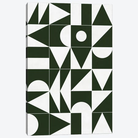 My Favorite Geometric Patterns No.15 - Deep Green Canvas Print #ZRA111} by Zoltan Ratko Canvas Art Print