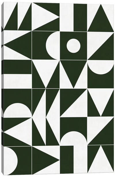 My Favorite Geometric Patterns No.15 - Deep Green Canvas Art Print