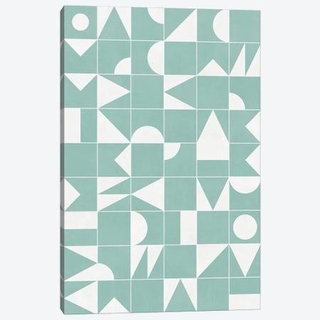 My Favorite Geometric Patterns No.16 - Light Blue Canvas Print #ZRA112} by Zoltan Ratko Art Print