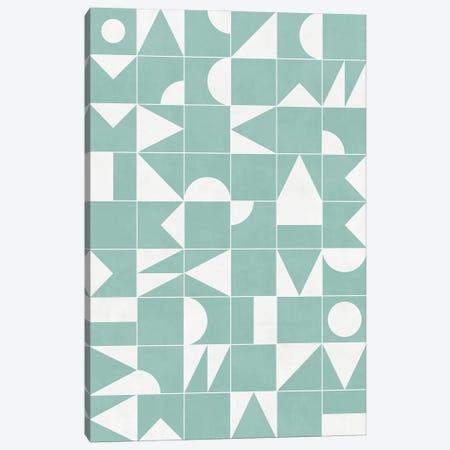 My Favorite Geometric Patterns No.16 - Light Blue Canvas Print #ZRA112} by Zoltan Ratko Art Print
