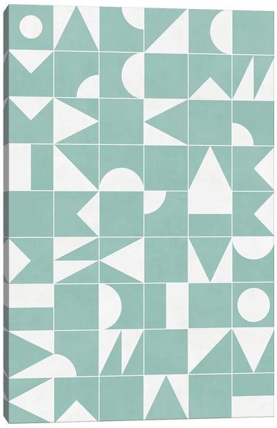 My Favorite Geometric Patterns No.16 - Light Blue Canvas Art Print