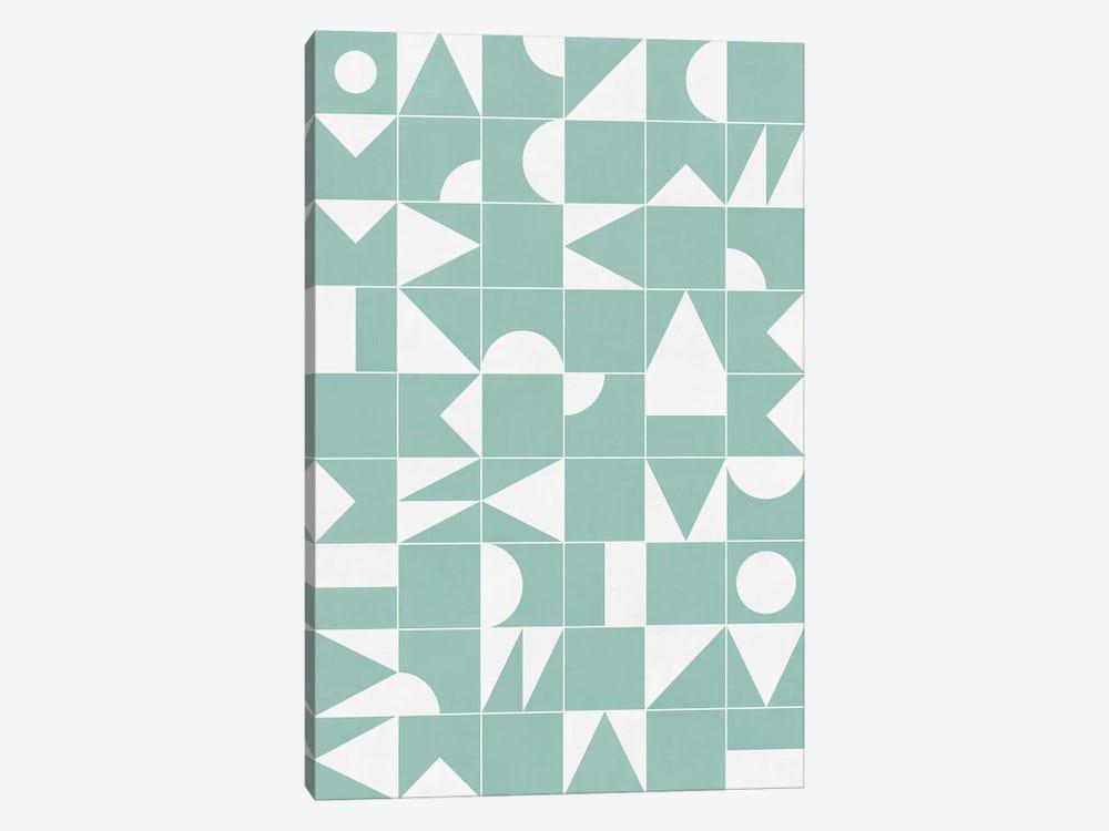 My Favorite Geometric Patterns No.16 - Light Blue by Zoltan Ratko 1-piece Canvas Art Print