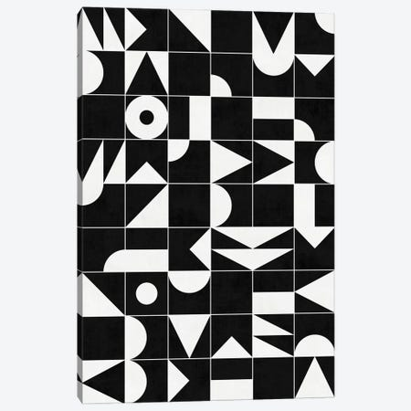 My Favorite Geometric Patterns No.18 - Black Canvas Print #ZRA114} by Zoltan Ratko Canvas Wall Art