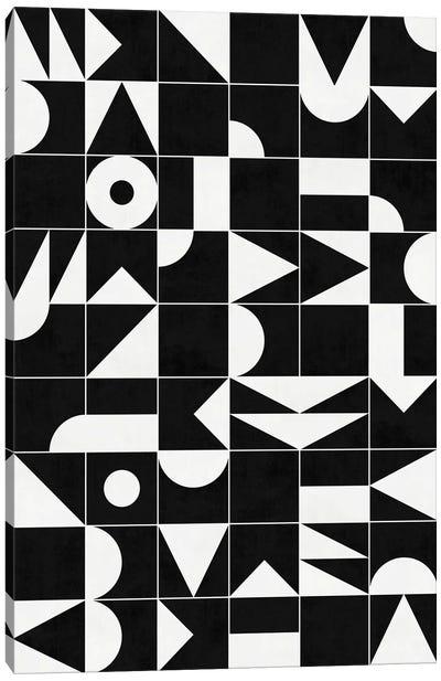 My Favorite Geometric Patterns No.18 - Black Canvas Art Print
