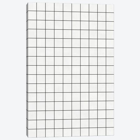 Small Grid Pattern - White Canvas Print #ZRA115} by Zoltan Ratko Canvas Wall Art