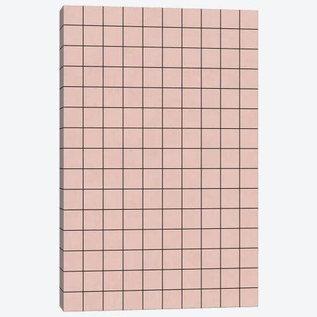 Small Grid Pattern - Pale Pink Canvas Print #ZRA116} by Zoltan Ratko Canvas Artwork