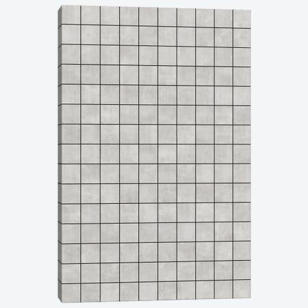 Small Grid Pattern - Grey Canvas Print #ZRA117} by Zoltan Ratko Canvas Artwork