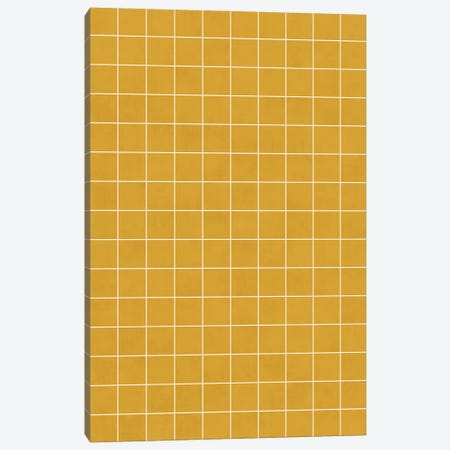 Small Grid Pattern - Mustard Yellow Canvas Print #ZRA118} by Zoltan Ratko Canvas Art Print