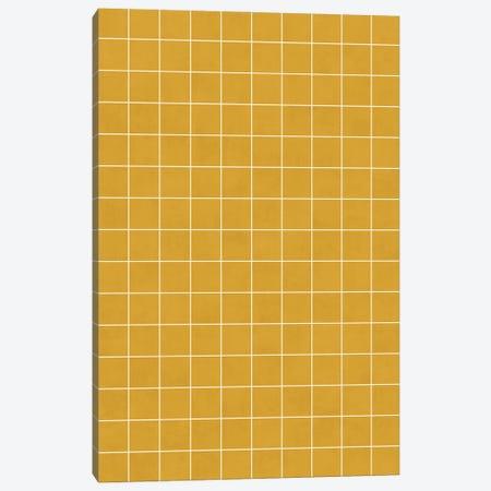 Small Grid Pattern - Mustard Yellow Canvas Print #ZRA118} by Zoltan Ratko Canvas Art Print