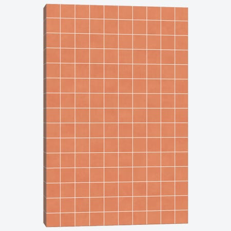 Small Grid Pattern - Coral Canvas Print #ZRA119} by Zoltan Ratko Art Print