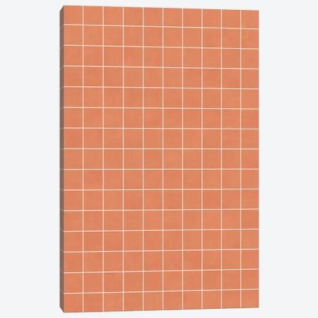Small Grid Pattern - Coral Canvas Print #ZRA119} by Zoltan Ratko Art Print