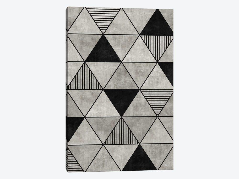 Concrete Triangles 2 by Zoltan Ratko 1-piece Canvas Art Print