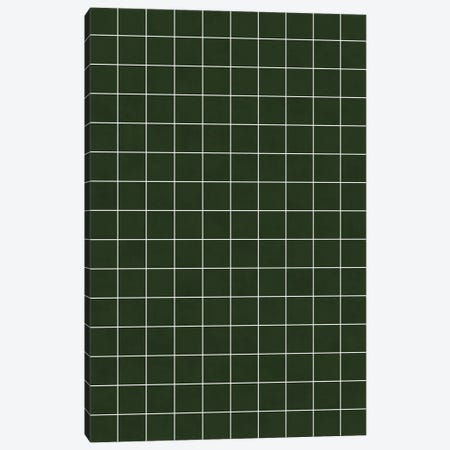 Small Grid Pattern - Deep Green Canvas Print #ZRA120} by Zoltan Ratko Canvas Artwork
