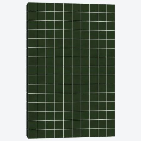 Small Grid Pattern - Deep Green Canvas Print #ZRA120} by Zoltan Ratko Canvas Artwork