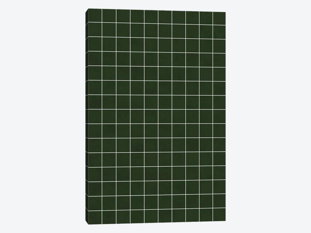 Small Grid Pattern - Deep Green by Zoltan Ratko 1-piece Canvas Art