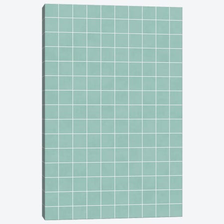 Small Grid Pattern - Light Blue Canvas Print #ZRA121} by Zoltan Ratko Canvas Art