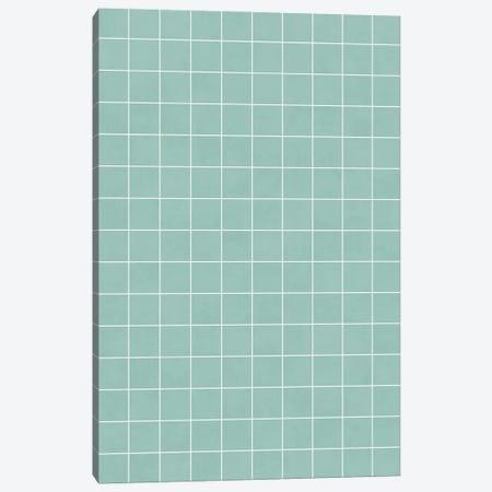 Small Grid Pattern - Light Blue Canvas Print #ZRA121} by Zoltan Ratko Canvas Art