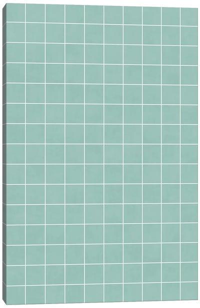 Small Grid Pattern - Light Blue Canvas Art Print