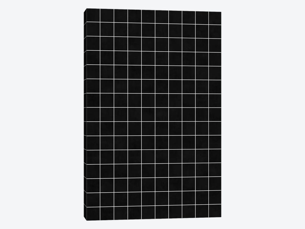 Small Grid Pattern - Black by Zoltan Ratko 1-piece Canvas Print