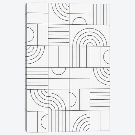 My Favorite Geometric Patterns No.19 - White Canvas Print #ZRA124} by Zoltan Ratko Canvas Art Print